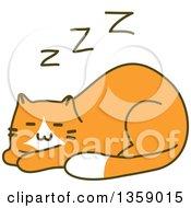 Sketched Ginger Cat Sleeping
