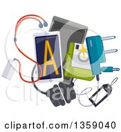 Clipart Of A Sale Design With Electronics Royalty Free Vector Illustration