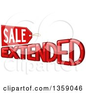 Clipart Of A Red Sale Extended Retail Design With A Tag Royalty Free Vector Illustration by BNP Design Studio