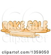Clipart Of A Bake Sale Design Made Of Dough With A Rolling Pin Royalty Free Vector Illustration