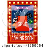 Clipart Of A Sale Coming Soon Design For A Spoorting Goods Store Royalty Free Vector Illustration