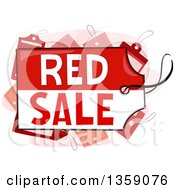 Clipart Of A Red Sale Text Tag Royalty Free Vector Illustration