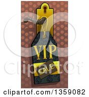 Clipart Of A Vip Sales Tag On A Door Knob Royalty Free Vector Illustration