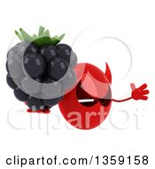 Clipart Of A 3d Red Devil Head Holding A Blackberry And Jumping On A White Background Royalty Free Illustration