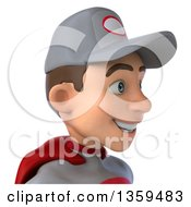 3d Avatar Of A Young White Male Super Hero Mechanic In Gray And Red On A White Background
