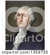 Historical Portrait Of George Washington Royalty Free Illustration