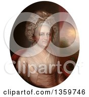 Historical Illustration Of A Painted Portrait Of Martha Washington Royalty Free Illustration