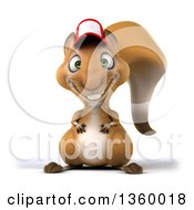 Clipart Of A 3d Squirrel Wearing A Hat On A White Background Royalty Free Illustration by Julos