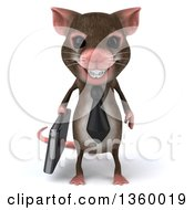 Clipart Of A 3d Business Mouse With Braces On A White Background Royalty Free Illustration by Julos