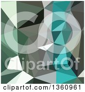 Clipart Of A Green Gray And Blue Low Poly Abstract Geometric Background Royalty Free Vector Illustration