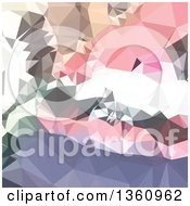 Clipart Of A Lavender And Pink Low Poly Abstract Geometric Background Royalty Free Vector Illustration
