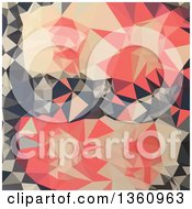 Clipart Of A Coral Red Low Poly Abstract Geometric Background Royalty Free Vector Illustration