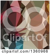 Clipart Of A Colorful Low Poly Abstract Geometric Background Royalty Free Vector Illustration
