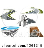 Clipart Of Highways And Roads Royalty Free Vector Illustration