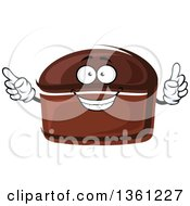 Clipart Of A Cartoon Rye Bread Character Royalty Free Vector Illustration