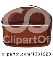 Clipart Of A Cartoon Loaf Of Rye Bread Royalty Free Vector Illustration