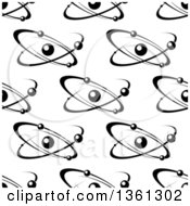 Clipart Of A Black And White Seamless Atom And Molecule Pattern Royalty Free Vector Illustration by Vector Tradition SM