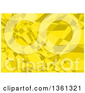 Clipart Of A Background Of Abstrac Yellow Geometric Mosaic Royalty Free Vector Illustration