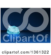 Clipart Of A Background Of A Diamond On Blue Royalty Free Vector Illustration