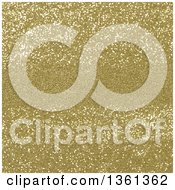 Clipart Of A Christmas Background Of Golden Sparkly Glitter With A Center Area For Text Royalty Free Illustration