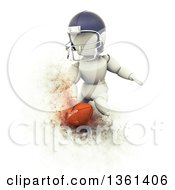 Clipart Of A 3d 3d White Character Doing A Football Touchdown With Explosion Effect On A White Background Royalty Free Illustration by KJ Pargeter