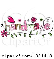 Clipart Of Colorful Sketched Handmade Word Art Royalty Free Vector Illustration
