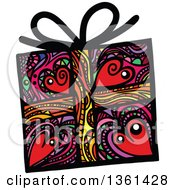 Colorful Patterned Folk Art Gift