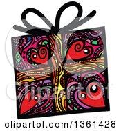 Colorful Patterned Folk Art Gift