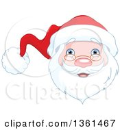 Clipart Of A Jolly Christmas Santa Face Royalty Free Vector Illustration by Pushkin