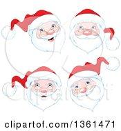 Jolly Christmas Santa Faces