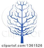 Gradient Blue Brain Canopied Tree