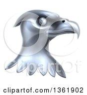 Metal Silver Bald Eagle Head