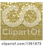 Clipart Of A Christmas Background Of Gold Sparkly Glitter Royalty Free Illustration