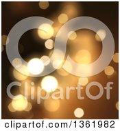 Clipart Of A Christmas Background Of Bokeh Flares On Blurred Gold Royalty Free Illustration