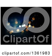 Clipart Of A Christmas Background Of Bokeh Flares On Black Royalty Free Illustration
