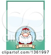 Christmas Santa Claus On A Green Page With Text Space
