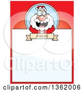 Clipart Of A Christmas Santa On A Red Page With Text Space Royalty Free Vector Illustration