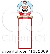 Clipart Of A Santa Christmas Bookmark Design Royalty Free Vector Illustration by Cory Thoman