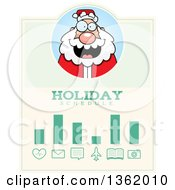 Clipart Of A Santa Christmas Holiday Schedule Design Royalty Free Vector Illustration by Cory Thoman