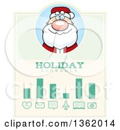 Clipart Of A Santa Claus Christmas Holiday Schedule Design Royalty Free Vector Illustration by Cory Thoman