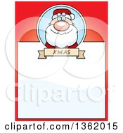 Christmas Santa Claus On A Red Page With Text Space