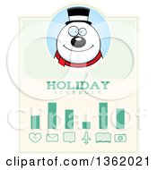Clipart Of A Snowman Christmas Holiday Schedule Design Royalty Free Vector Illustration