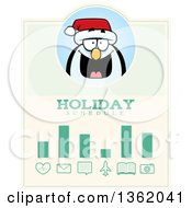 Clipart Of A Penguin Christmas Holiday Schedule Design Royalty Free Vector Illustration by Cory Thoman