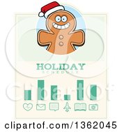 Clipart Of A Gingerbread Cookie Christmas Holiday Schedule Design Royalty Free Vector Illustration by Cory Thoman