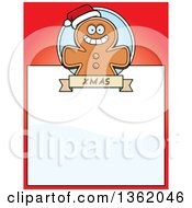 Clipart Of A Gingerbread Cookie On A Red Page With Text Space Royalty Free Vector Illustration by Cory Thoman