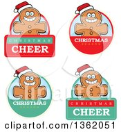 Clipart Of Gingerbread Cookie Badges Royalty Free Vector Illustration by Cory Thoman