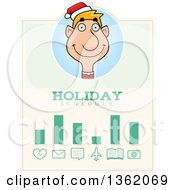 Clipart Of A Male Christmas Elf Holiday Schedule Design Royalty Free Vector Illustration