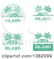 Clipart Of Island Tour Icons Royalty Free Vector Illustration by Cory Thoman