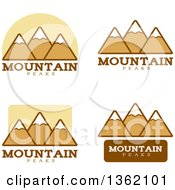 Clipart Of Mountain Peak Icons Royalty Free Vector Illustration by Cory Thoman
