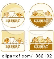Clipart Of Desert Icons Royalty Free Vector Illustration by Cory Thoman